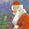 Министерство связи СССР. 04.12.85. С Новым годом! З.8680. 8млн. Дед Мороз и синичка.