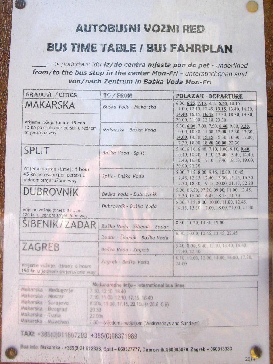 Расписание автобусов на остановке в Башке Воде