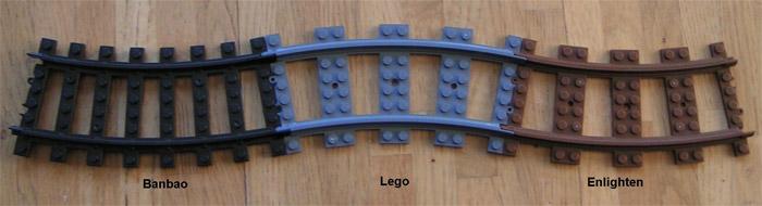 Совместимость рельсов Lego и BanBao